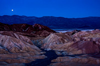 Moonset Over The Panamints, Zabriskie Point