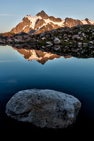 Mount Shuksan reflected in mountain tarn