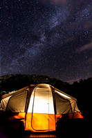Milky Way Over Tent