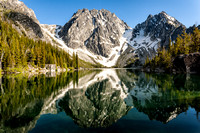 Colchuck Lake Reflects Dragontail Peak, Colchuck Peak, and Aasgard Pass