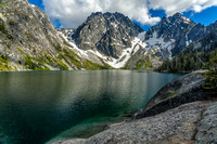 Colchuck Lake, with Dragontail Peak, Colchuck Peak, and Aasgard Pass