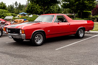 Shelby Red 1972 Chevy El Camino SS